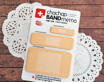 Band Aid Sticking Plaster Sticky Notes - Joke Medical Gift - Novelty Memo Note Set - Kawaii Stationery - Planner Tabs