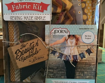 Chalkboard Fabric Banner Kit from ADORNit NO-SEW kit
