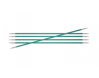 KnitPro Zing 15 cm double pointed knitting needles, all 16 sizes together, Zing DPNS, aluminium double pointed knitting needles.