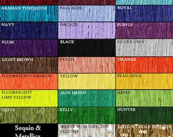 4 Inch (other lengths available) Chainette Fringe Trim ~ 62 Colors ~ Dance, Performance Outfit, Ballroom Gown, Costume ~ Price is per yard