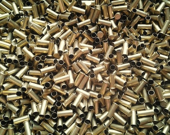 Set of 50 Brass Bullet Casings .22 Caliber! Polished & Shined. Empty Spent Ammo Shells. Makes Cute Steampunk Jewelry, Earrings, Pendants
