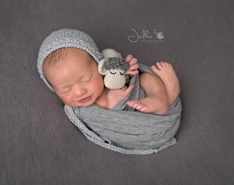 Newborn cotton bonnet Newborn cotton hat Newborn knit bonnet Handmade bonnet Newborn photo prop Multicolor bonnet Newborn prop bonnet