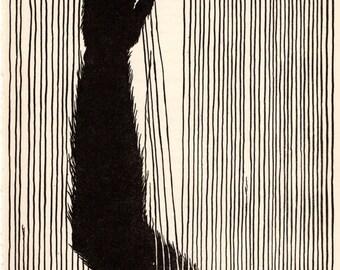"1953 Don BLANDING Original Art Deco Vintage Print ""MONKEY BUSINESS"""
