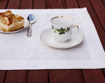 White Linen,  Placemat, Linen placemat, Linens, Dinning placemat, Place mat, Home decor, Placemats set, Table placemat, Custom placemat