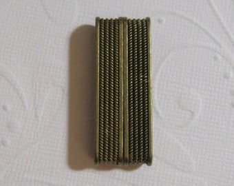 Magnetic Glue in Bar Clasp - Old Gold Color Ridge clasp 37.4x19.6x7mm (34x4.3mm id)