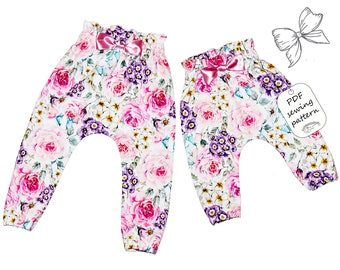 High waisted baby pants pattern PDF, sewing patterns, sewing patterns baby