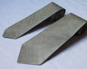 Custom Groom Mens Necktie Groomsmen Formal Wedding Accessory - Made to Order Silk Dupioni Skinny Tie Shown In Storm Grey Gray Silver