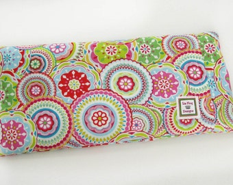Heating Pad (Microwavable)- Spirograph // Buckwheat and Rice Heating Pad // Cold Pack // Heat Pack // Removable Cover
