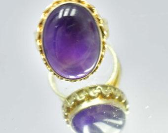 41.85Ct Certified US Size-8 Fantastic Purple Amethyst Ring Gems 925 Sterling Silver AU4957