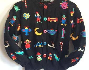 Kids Christmas Toy Sweater