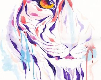 A3 Original - Tiger Watercolour