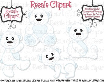 Polar Bear Cuties Clipart (Digital Download)