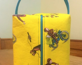 Curious George Fleece Lined Project Bag
