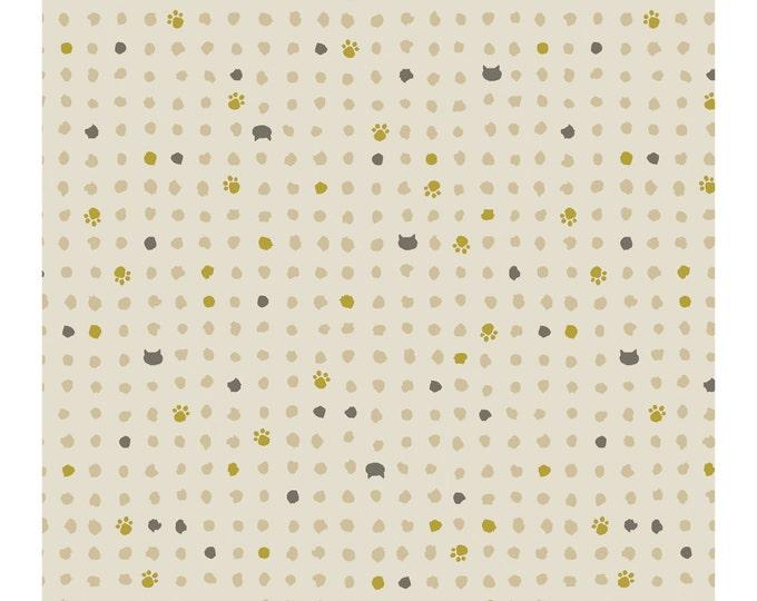 Quilt Gate Japan Hyakka Ryoran ~ Neko II Cat Paws and Dots ~ QG3170-15A select length