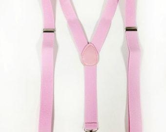pink suspenders, mens suspenders, suspenders, boys suspenders, women's suspenders, men's suspenders
