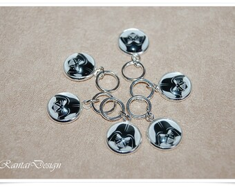 Knitting stitch markers Inspired Star Wars rings stitch marker 12 mm