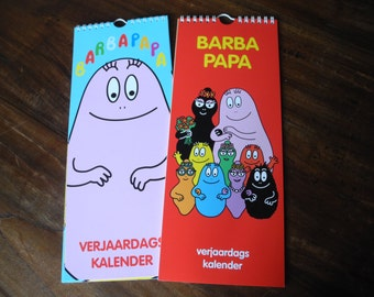 Barbapapa birthday calender