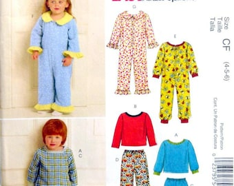 McCall's M5741 UNCUT Size 4, 5, 6 Toddlers' and Children's Tops, Pants and Jumpsuit