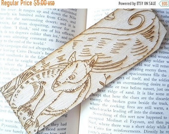 Squirrel, Laser Engraved Wood Bookmark