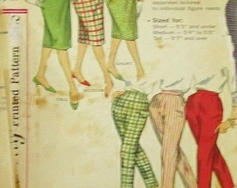 Vintage simplicity pattern 1950 pants and skirt contact for discount purchase with other sewing supplies