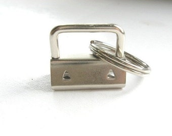 "Key Fob Hardware Nickel 1""  25 Sets"