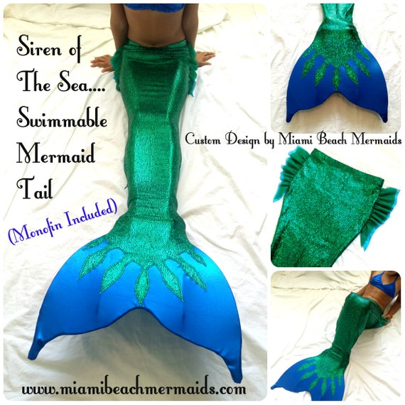 Siren Of The Sea Swimmable Mermaid Tail By M B M