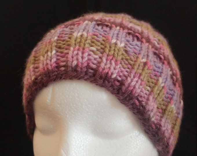berry waffle stitch hat,  beanie hats, holiday gifts, handmade beanie, knit berry beanie