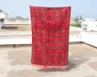 Beni Mguild Rug, Moroccan Rug, Vintage Rug, Boho rug, Berber Rug, Tribal Rug, Boujad Rug, Boujaad Rug 5x3