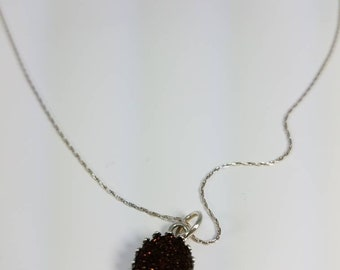Weeping Willow Druzy Pendant Necklace