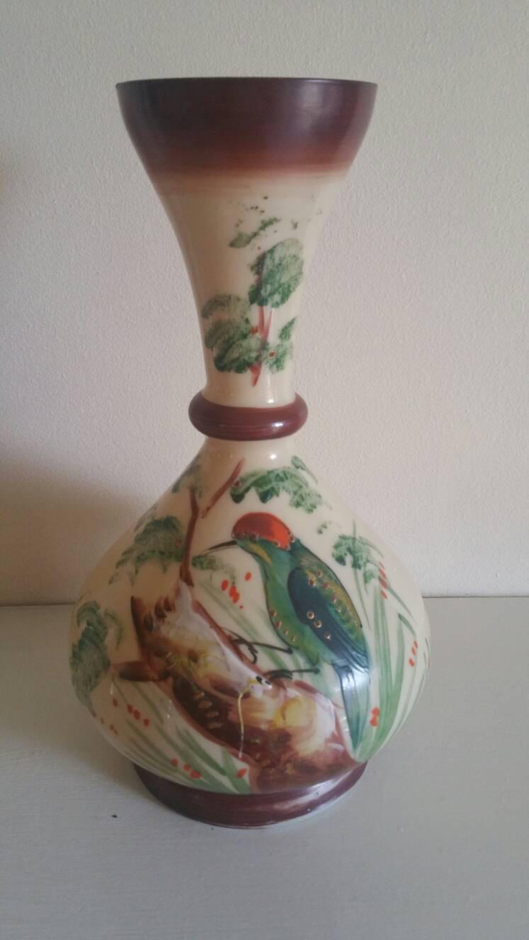 Reduced antique bristol glass vase handpainted zoom reviewsmspy