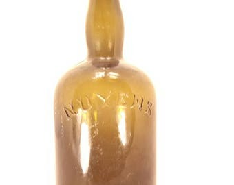 Antique Nuyens French liquor bottle