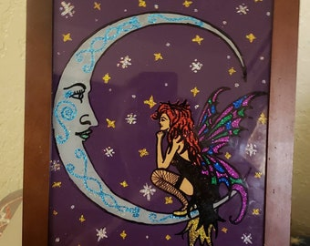 Fairy and the Moon Painting