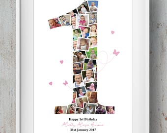 Birthday / Anniversary Number Age Photo Montage / Collage