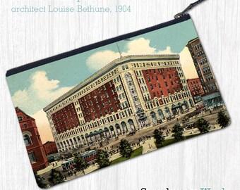 Hotel Lafayette (Buffalo, NY), 1904—Pouch, Wallet, Wristlet, Coin Purse, Zipper Bag, Clutch, Pencil Case, Makeup Bag