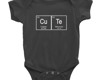 Periodic Table CUTE Baby clothes bodysuit creeper Hipster infant girl boy Chemistry Science Teacher new baby shower gift present 0128