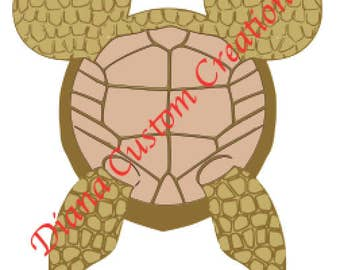 Crush the turtle Finding Nemo Mickey head iron on shirt