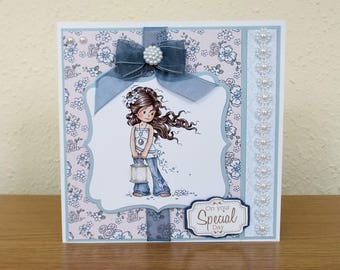 Female Girl/Teenager Birthday Card - luxury unique quality special bespoke UK - Mum/Grandma/Daughter/Aunt/Niece/Sister