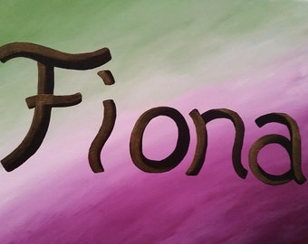 Custom Acrylic Name Painting