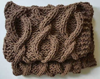Infinity Cable Knit Blanket - MADE TO ORDER