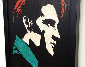 Elvis Presley Wall Art Canvas Print Framed Poster Paint Mixed Media Elvis Painting Great Rock n Roll Decor Elvis Gifts
