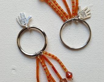 Beaded key ring