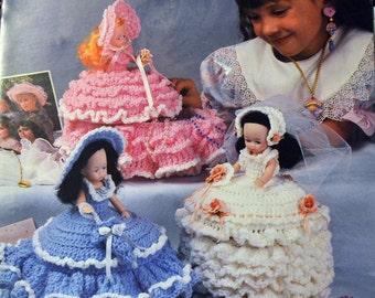 Crochet Patterns Treasure Box Dolls  Annie's Attic Designer Virginia Zartman