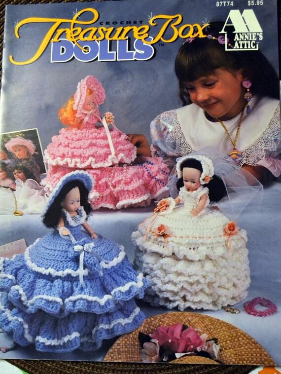 Crochet Patterns Treasure Box Dolls Annies Attic Designer Virginia