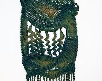 Macrame Wall Hanging Art 'Deep Sea' - Handmade with hemp string