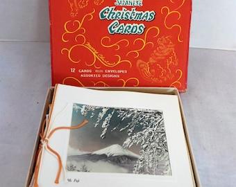 Vintage Japanese  Christmas Greeting Cards