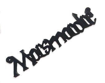Morsmordre laser cut charm
