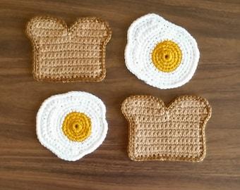 Toast and Egg Coaster Set