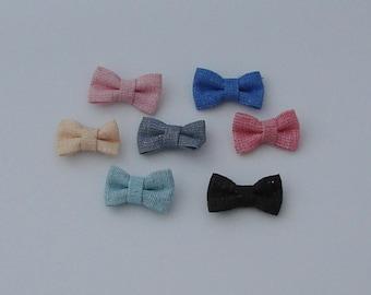 7 27x16mm color multicolor fabric bows