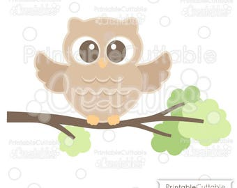 Cute Woodland Owl SVG Cut File & Clipart E269 - Includes Limited Commercial Use!