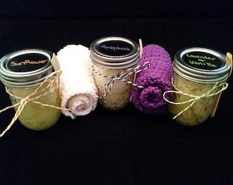 Sugar Scrub - All natural sugar scrub, exfoliate, 6oz. jar, hand and body scrub